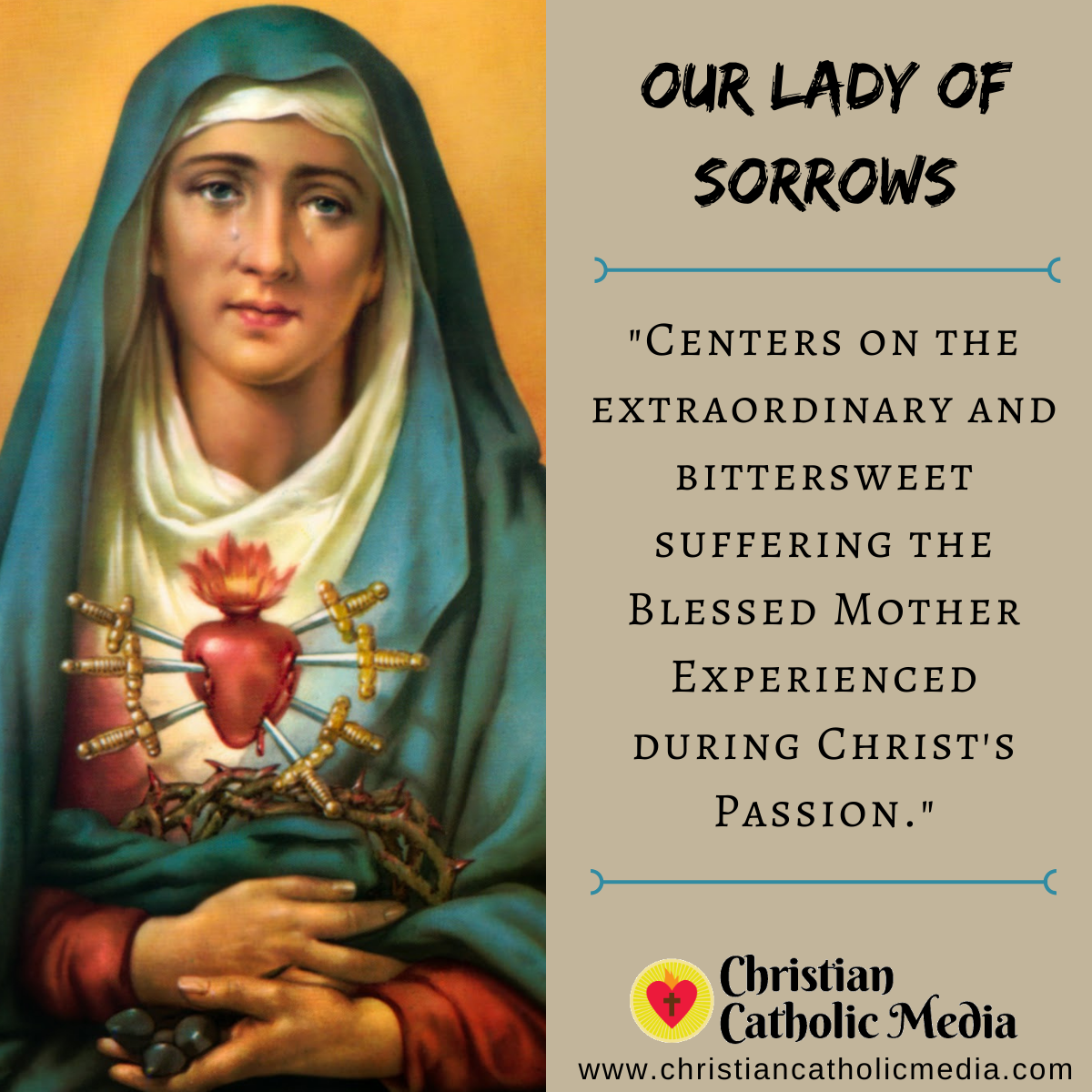 Our Lady of Sorrows - Wednesday September 15, 2021