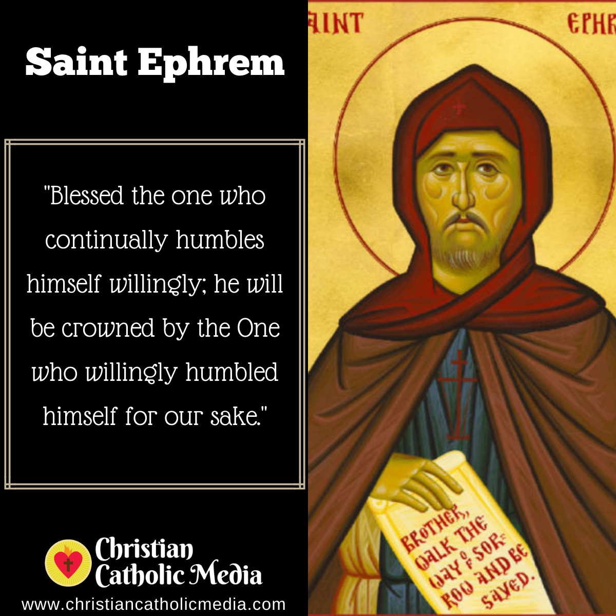 St. Ephrem - Tuesday June 9, 2020