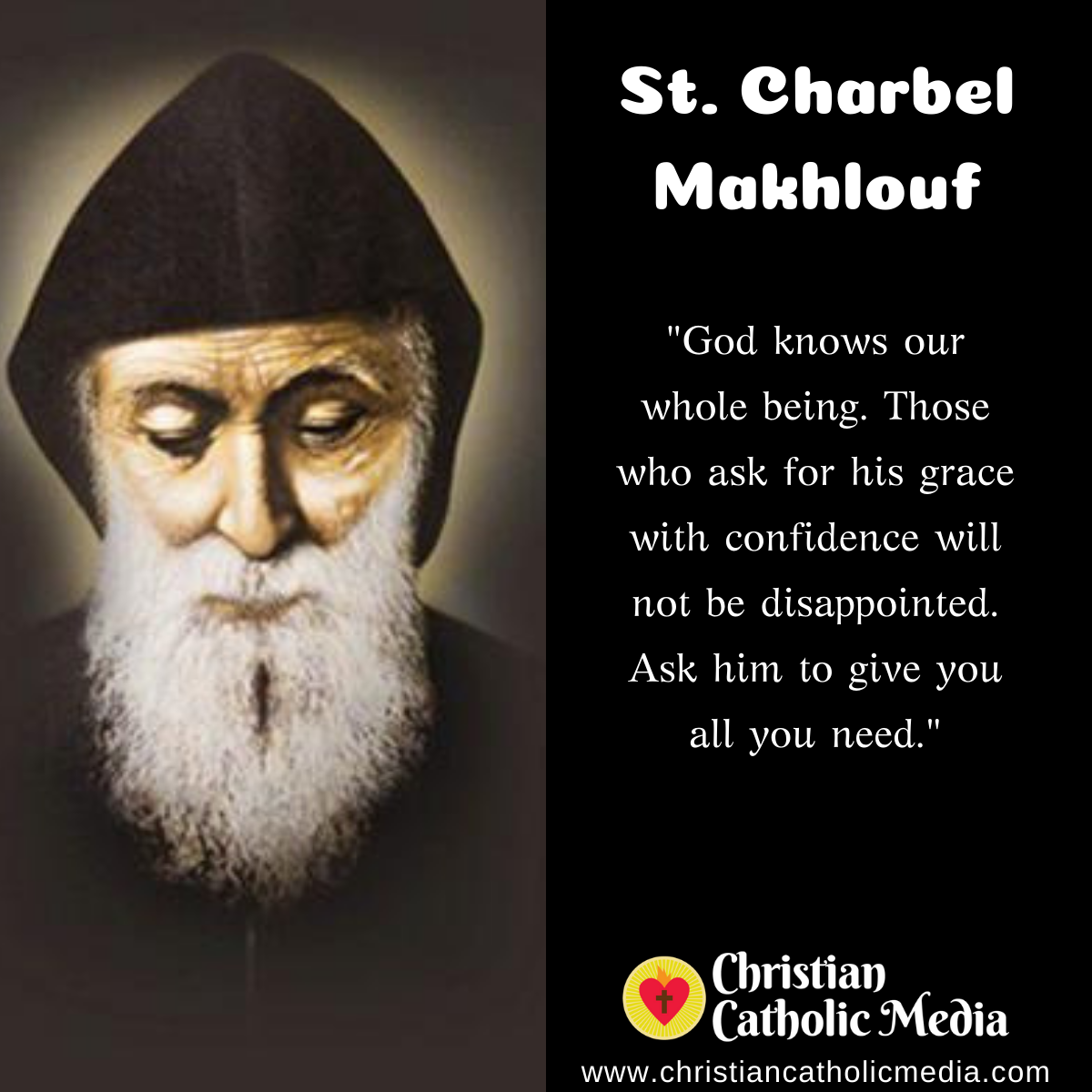 St. Charbel Makhlouf - Friday July 24, 2020