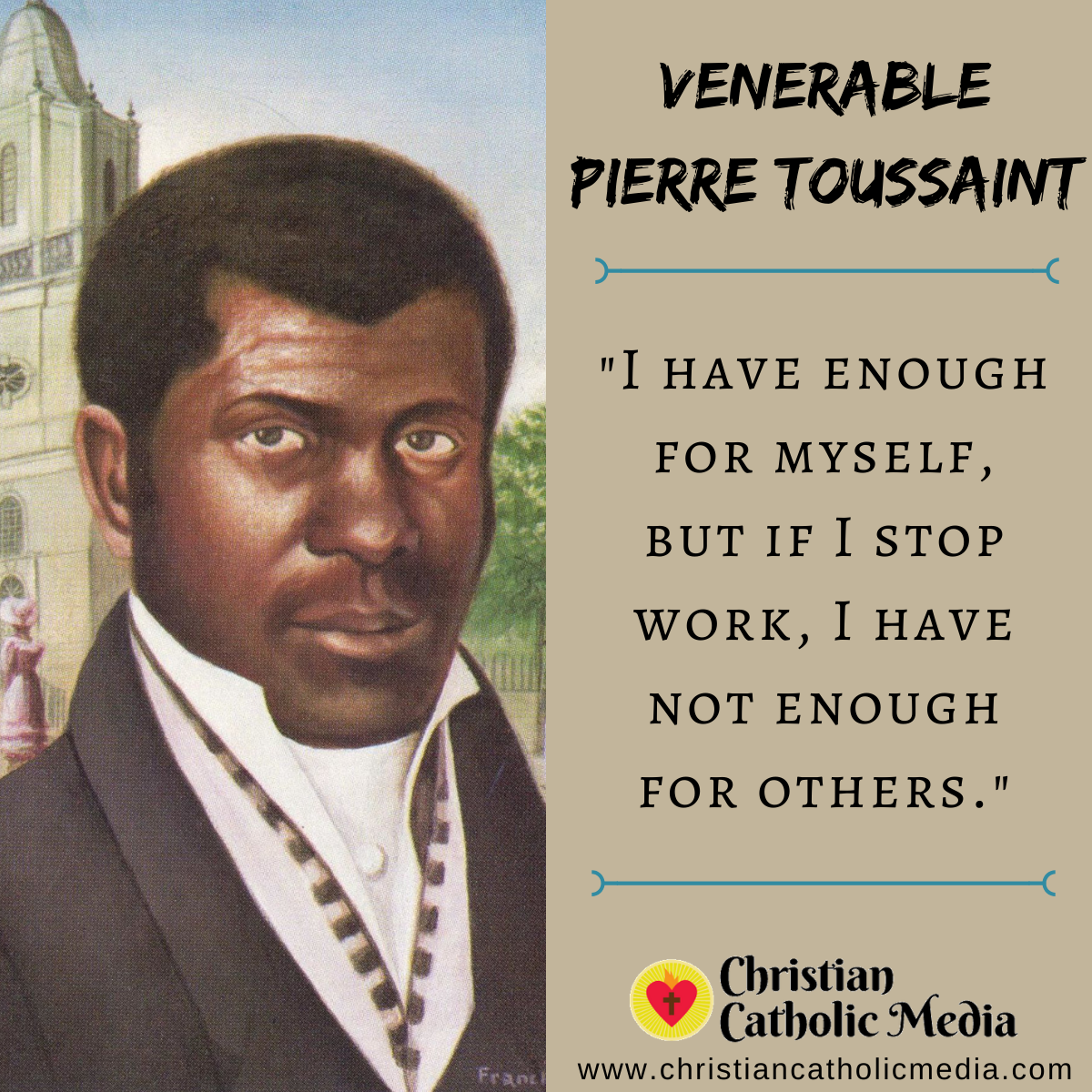 Venerable Pierre Toussaint - Thursday May 28, 2020
