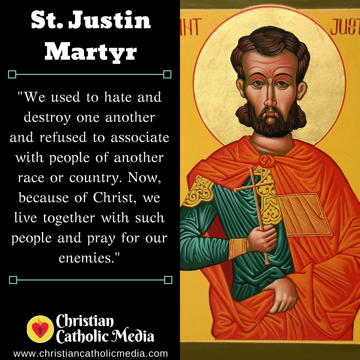 St. Justin Martyr - Tuesday June 1, 2021