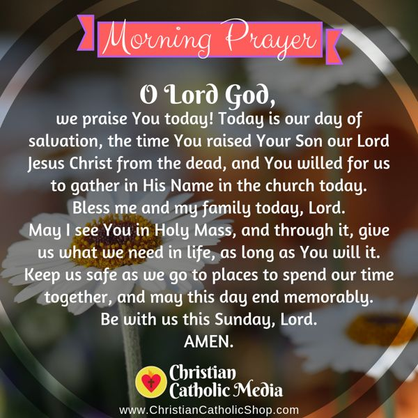 Morning Prayer Catholic Thursday 9-5-2019