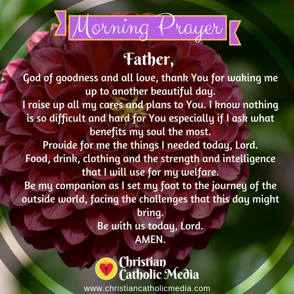 Morning Prayer Catholic Thursday 9-12-2019