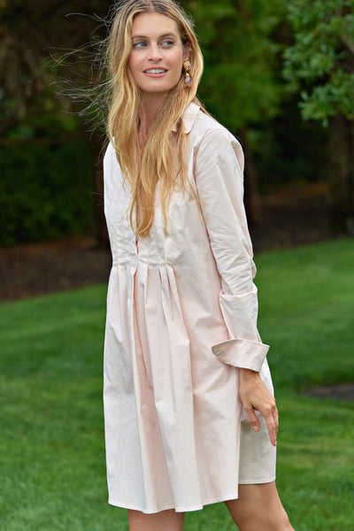 Celine Pleated Shirt Dress