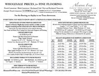 Flooring - Limestone - Purchase Overview Sheet PDF Download