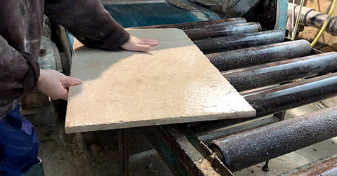 Limestone quarry - washing the slabs