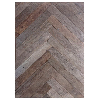 Herringbone Pattern - lightly sanded and planed on one side