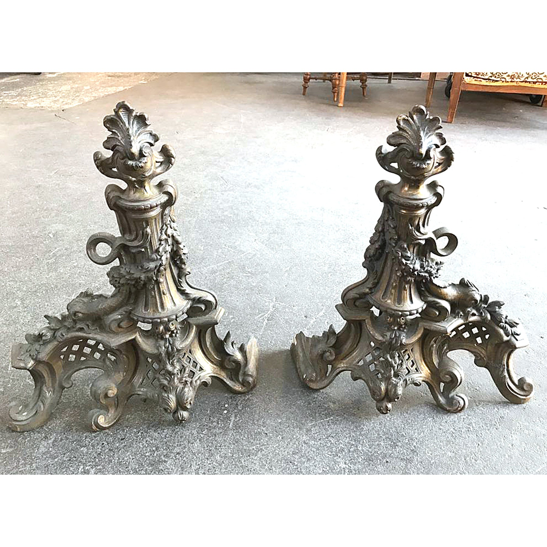 Pair of Andirons