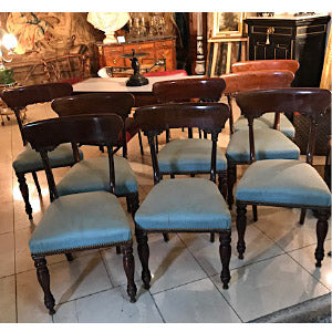 Eight (8) Matching Mahogany Chairs