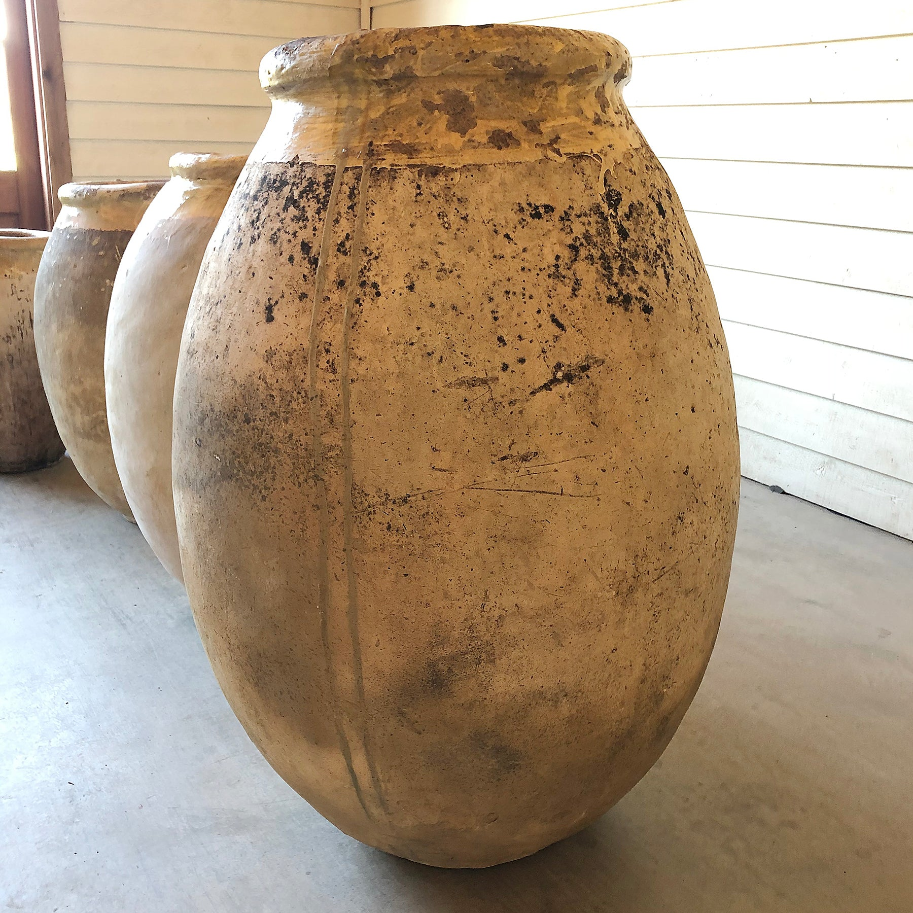 "Antique Biot Jar - 18th century - 42"" D"