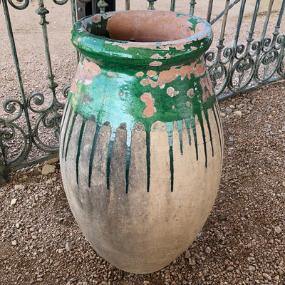 "Antique Biot Jar - 19th century - 28"" 3 Stamps - J"