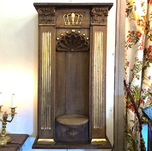 Antique French Wood Niche from a Church