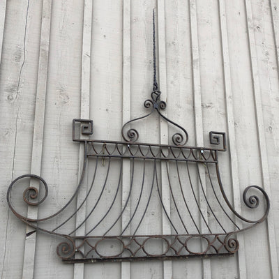 Hand-Forged Iron Entry Gate (top) from the Chateau of Licorne, 18th century