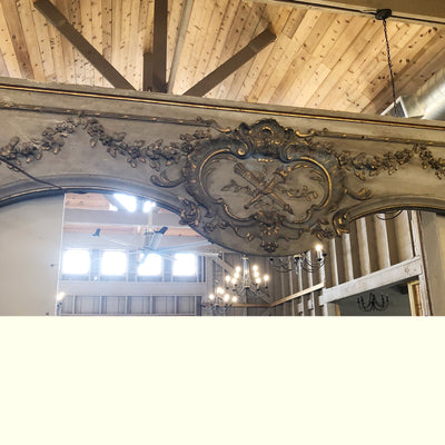 Antique French Decorative Molding with Legs