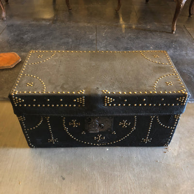 17th century Leather Trunk