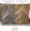 Herringbone Pattern - 18th century Reclaimed French Oak