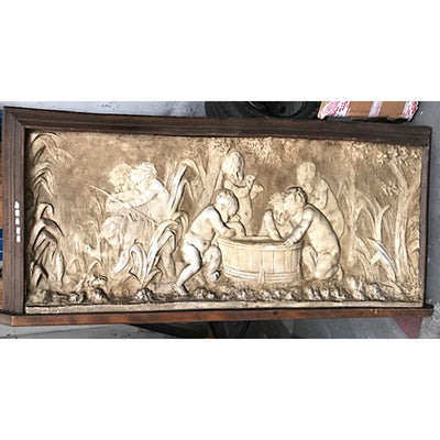 Framed Plaque with Children Playing