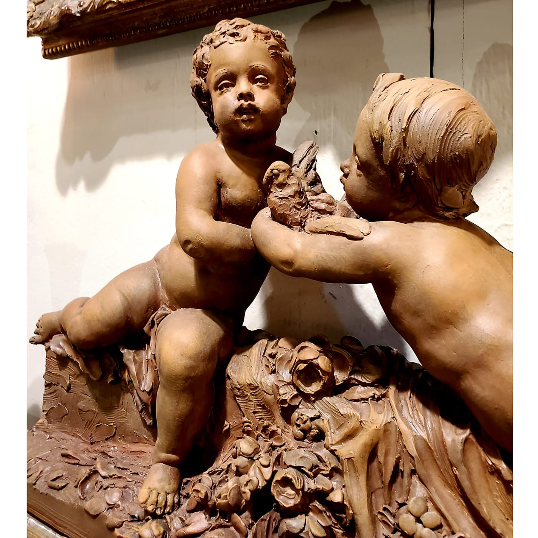 Pair of Putti on a Base