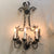 Pair of Metal Sconces with Three (3) Lights