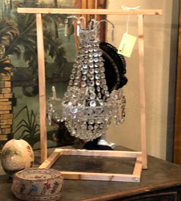 Small Crystal Chandelier used for Outdoor Garden Parties