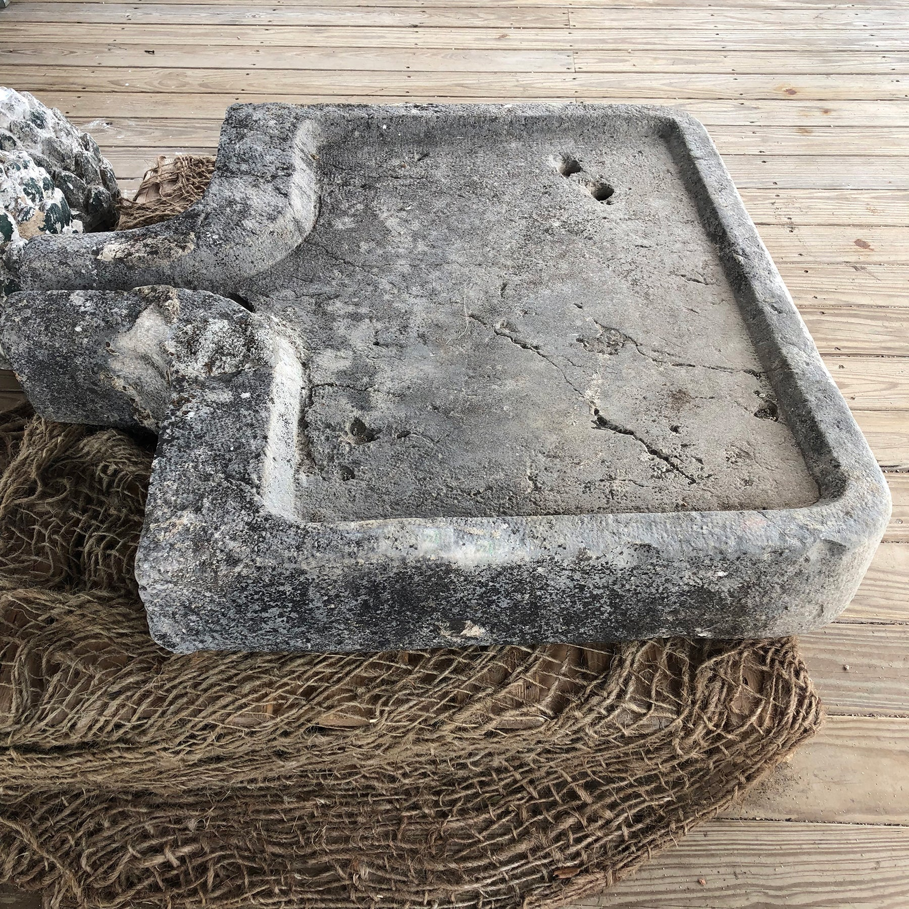 Sink in Limestone from Villebois, France