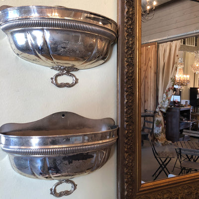 Silverplate Wall Container Sconces