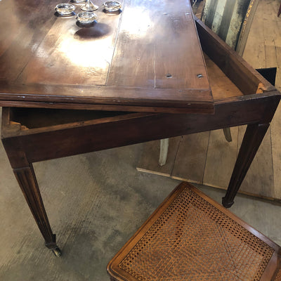 Walnut Louis XVI Portefeuille or Wallet Table
