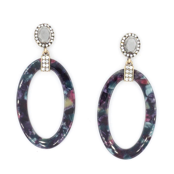 Marble Statement Oval - Multi