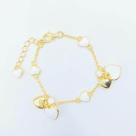 Infant/Baby Bracelet - Gold over Sterling / White