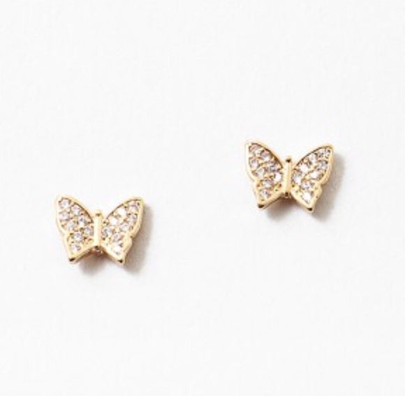 Glam Butterfly Studs 4.0