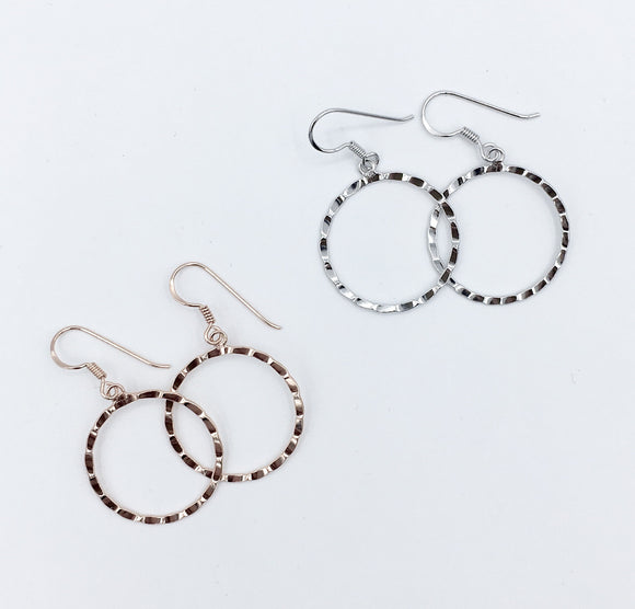 Sterling Lightweight Circle Earrings