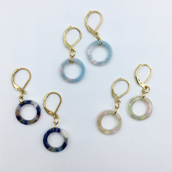 Marble Leverback Earrings