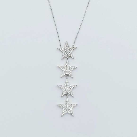 Multi Star Drop Necklace