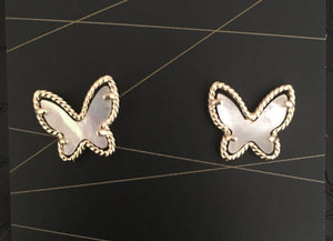 Glam Butterfly Studs 5.0 - Mother of Pearl