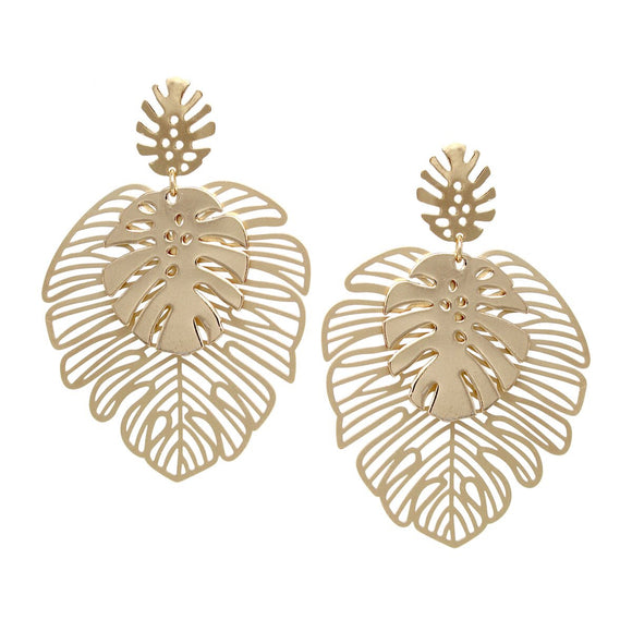 Tropical Paradise Leaf Earrings