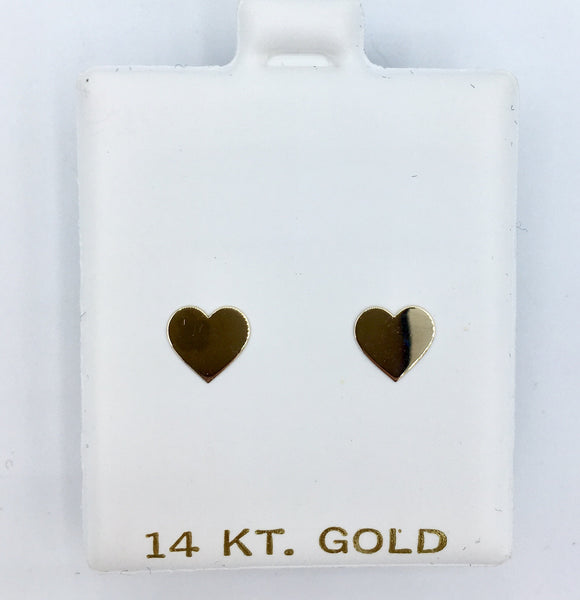 Gold Heart Screwbacks