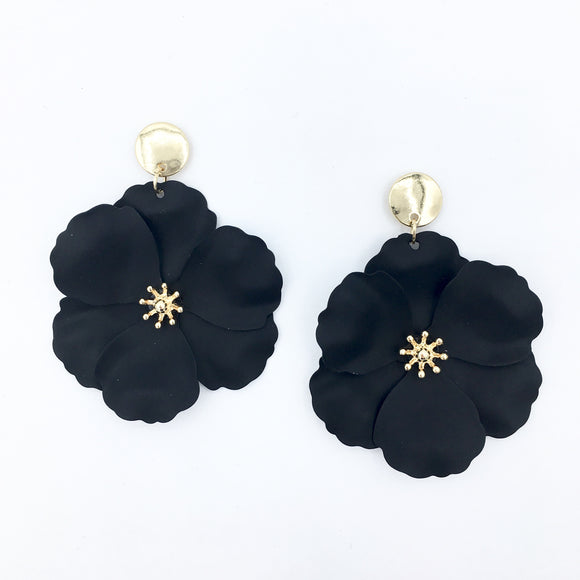 Flower Chic- Large Black Drops