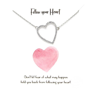 Follow your Heart Necklace - Silver