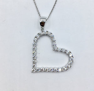 Sterling Heart Necklace 3.0
