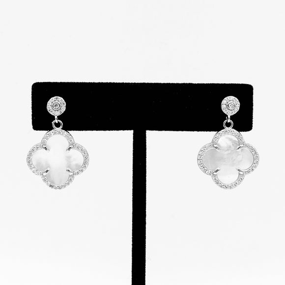 Clover Mini Drop Earrings