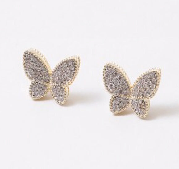 Glam Butterfly Studs 3.0