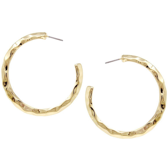 Goddess Status Hammered Hoops