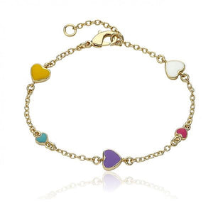 Enamel Heart Multi-Colored Bracelet