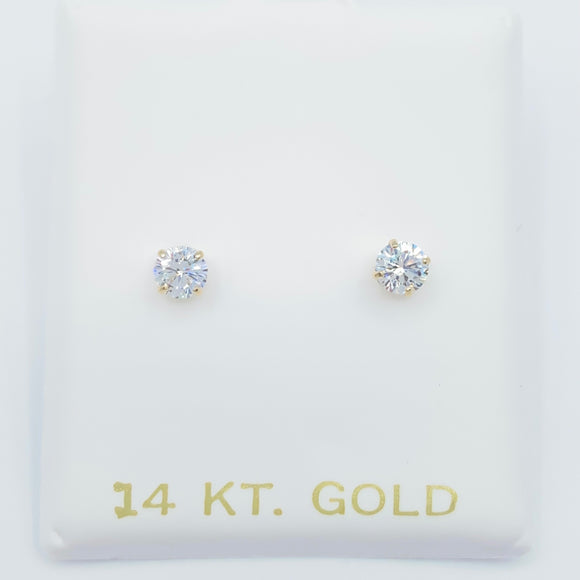 Diamond Stud Screwback - 4mm