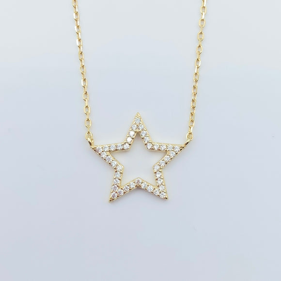 Sterling Star Necklace