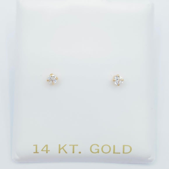 Diamond Stud Screwbacks- Small 2.5mm