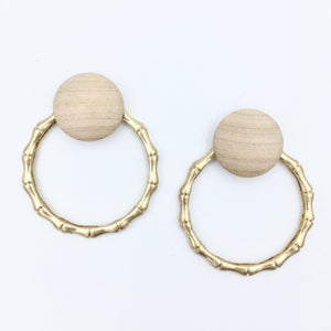 The Naturals- Gold Hoops