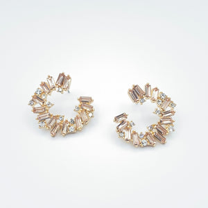 Goddess Glass Stone Earrings 4.0 - Champagne