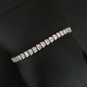 Sterling Diamond Bracelet