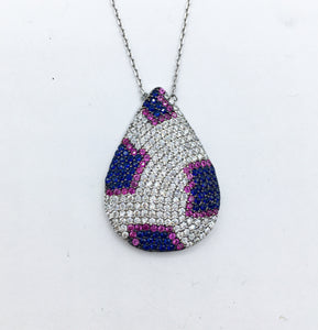 Leopard Inspired Necklace - Blue